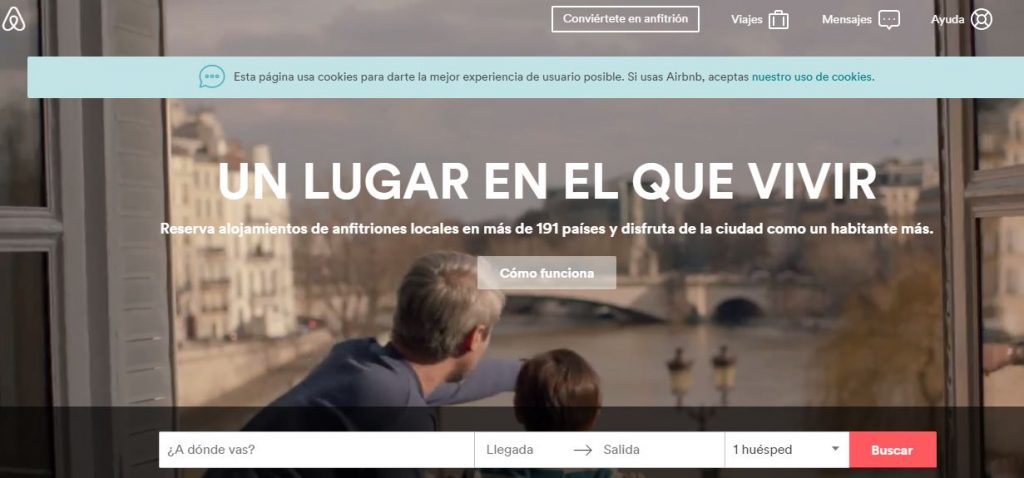 aplicaciones viajar airbnb