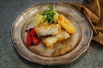 bacalao con perejil al vacío en el horno