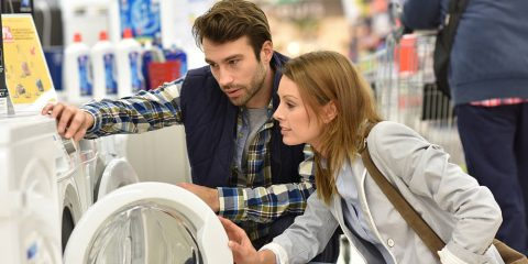 Lavadora con aspas o sin aspas