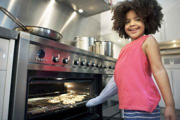 horno con puerta abatible o extraíble