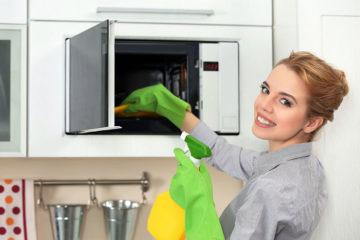 limpiar el microondas