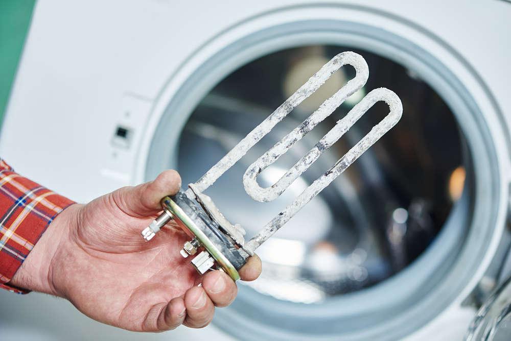 eliminar la cal de la lavadora